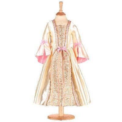 Kjole - guld og lyserød, 3-5 år