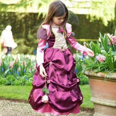 Prinsessekjole med roser, 9 til 11 år