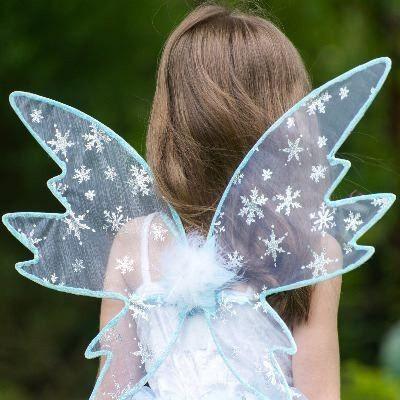 Fe kjole - snefe med vinger, 3-5 år