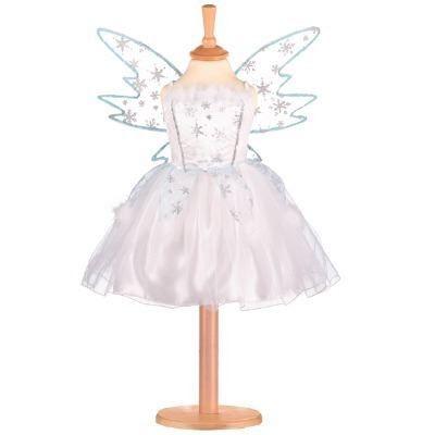 Fe kjole - snefe med vinger, 6-8 år