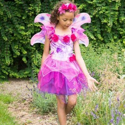 Kjole med vinger - fuchsia, 6-8 år