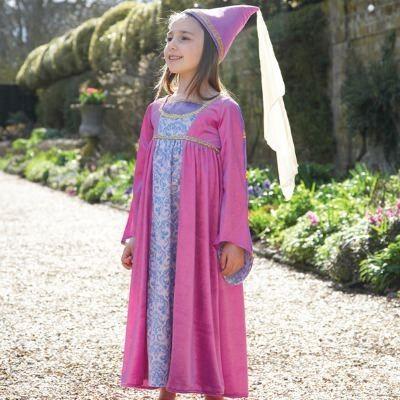 Kjole - skønjomfru fra renæssancen, 6-8 år