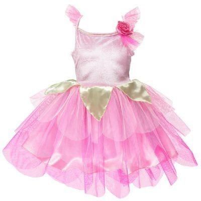Fe kjole - rosenblad, 6-8 år