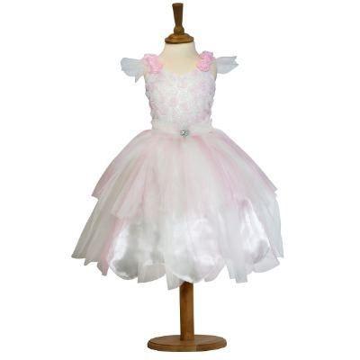 Fe kjole - candyfloss, 6-8 år