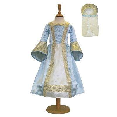 Prinsessekjole - middelalder - lyseblå, 6-8 år