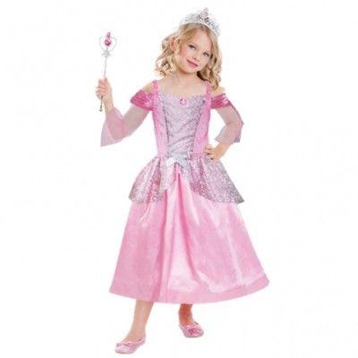 Prinsessekjole med tiara og stav, 3-6 år