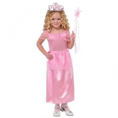 Prinsessekjole med tiara, 4-6 år