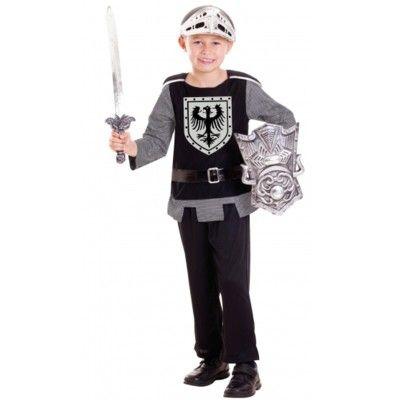 Ridderdragt  med sværd og skjold, 3-6 år