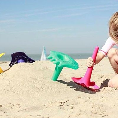 Leg i sandet - triplet, turkis