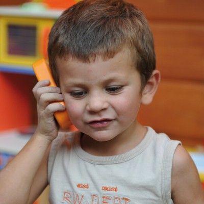 Telefon i træ med lyd