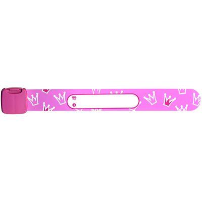 Infobånd med prinsesskroner - lyserødt