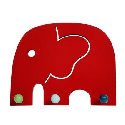 Knagerække med tre knager - elefanten Oscar - økologisk fra Franck & Fischer