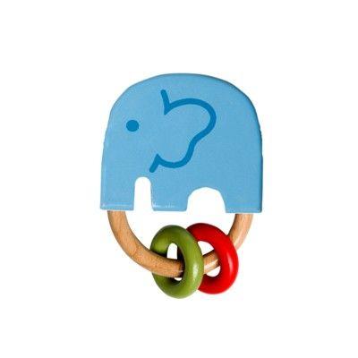 Gribelegetøj - elefanten India blå - økologisk fra Franck & Fischer