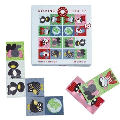 Domino med dyr - økologisk fra Franck & Fischer