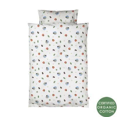 Sengetøj - ugler, baby 80x70 - økologisk fra Franck & Fischer
