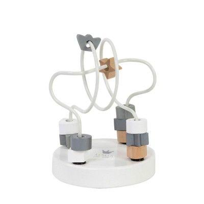 Labyrint legetøj med kugler - hvid - BamBam