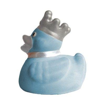 Badeand med krone - lyseblå