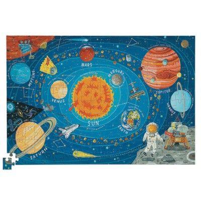 Puslespil med plakat - solsystem, 200 brikker