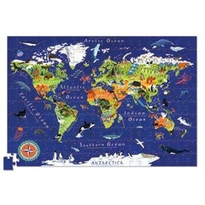 Verdenspuslespil med plakat - 200 brikker