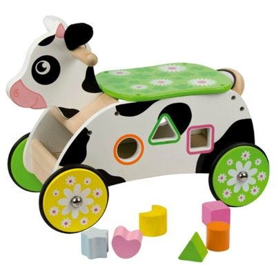 Køredyr - ko med klodser - Bigjigs