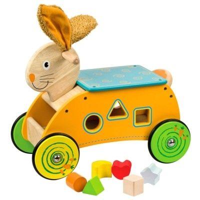 Køredyr - kanin med klodser - Bigjigs