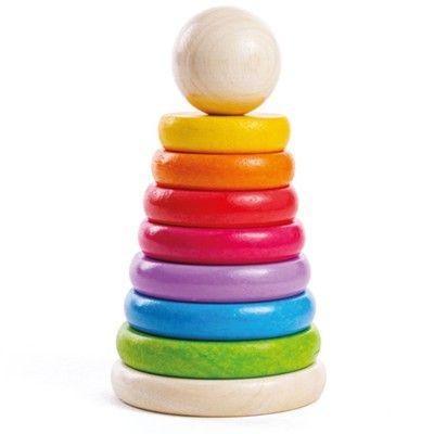 Stabeltårn - regnbue - Bigjigs