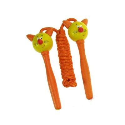 Sjippetov - kat - orange håndtag