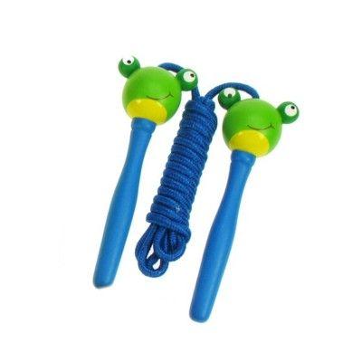 Sjippetov - frø - blå håndtag