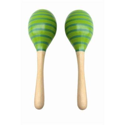 Maracas - striber - grøn - 2 stk