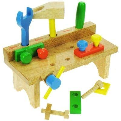 Værktøjsbord med værktøj - Bigjigs
