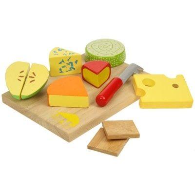 Legemad - bakke med ost i træ - Bigjigs