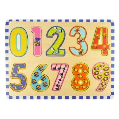 Puslespil - Lær tallene 0-9 - Bigjigs