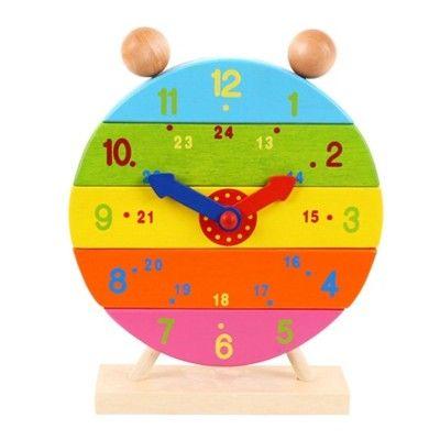 Ur i træ - byg og lær klokken - Bigjigs