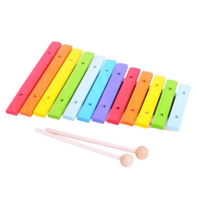 Xylofon i træ - regnbuens farver - Bigjigs