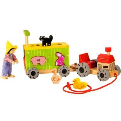 Puttekasse - Traktor og vogn