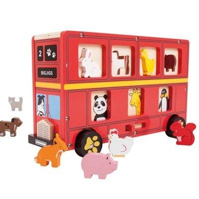Puttekasse - London bus med dyr