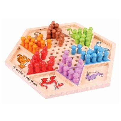 Spil - Kinaskak i træ - dyr - Bigjigs