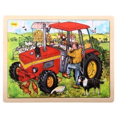 Puslespil - traktor, 24 brikker - Bigjigs