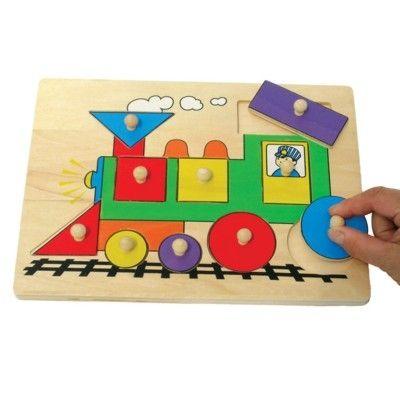 Knop-puslespil med tog