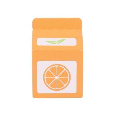Legemad - Juice i træ - appelsin - Bigjigs