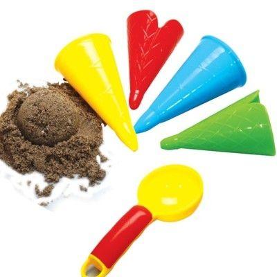 Legetøj til sand - isske og 4 vaffelforme