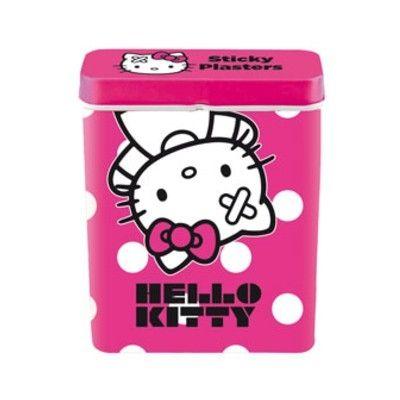Plaster i metaldåse - Hello Kitty, pink
