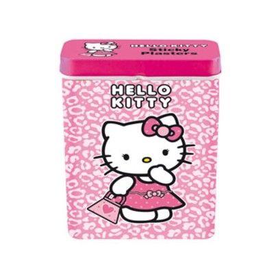Plaster i metaldåse - Hello Kitty, lyserød