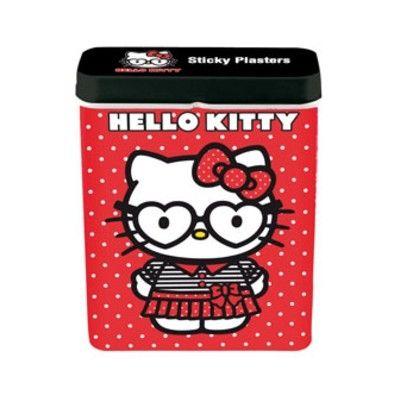 Plaster i metaldåse - Hello Kitty, rød