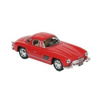 Bil i metal - Mercedes Benz 300SL (1954), rød