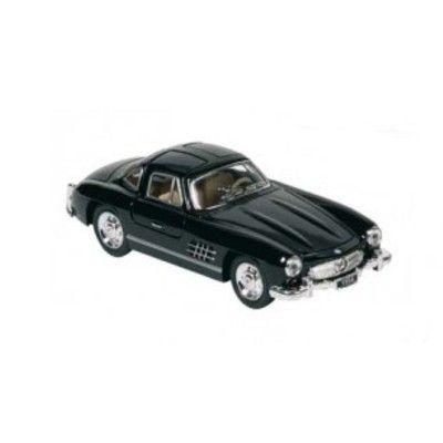 Bil i metal - Mercedes Benz 300SL (1954), sort