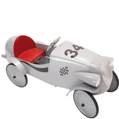 Bil med pedaler - grå - Le Mans model - Baghera