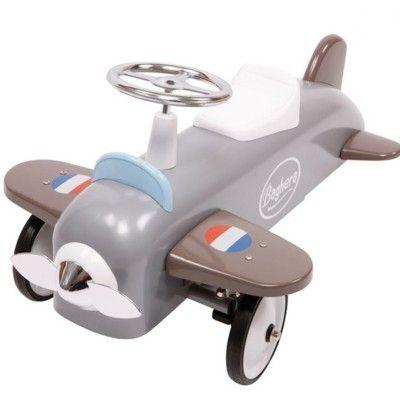Flyvemaskine i gråt metal - gåbil - Baghera