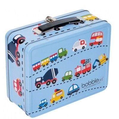 Kuffert i metal med trafik