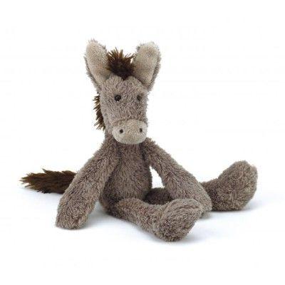 Hest - tøjdyr - 25 cm
